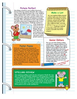 March Writing Activities Grades 1-3