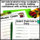 March Writing Activity: Brainstorming Organizer and List Making Paper