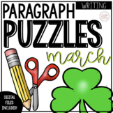 March Writing Activity: Paragraph Puzzlers