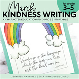 March Writing Activity | Thankful for Kindness Writing | S