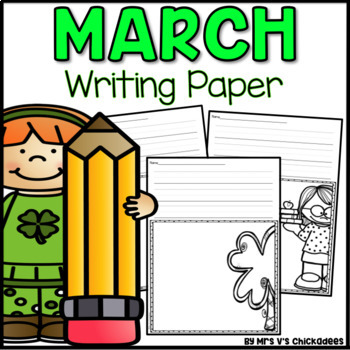 March Writing Activity: Thematic Writing Paper