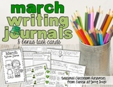 March Writing Journal and Task Cards