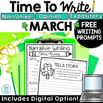 March Writing Prompts Free