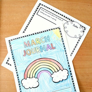 March Writing Journal Prompts for Preschool and Kindergarten