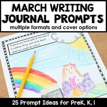 March Writing Journal Prompts for Preschool and Kindergarten