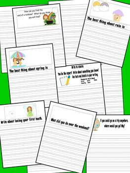 March Writing Journal with 1st and 2nd grade Common Core State Standard Prompts