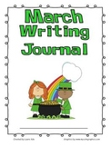 March Writing Journal with 1st and 2nd grade Common Core S