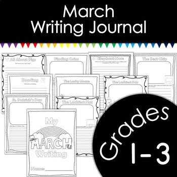 March Writing Journal with Prompts