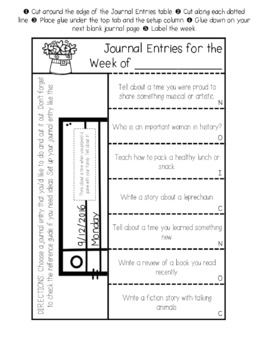 March Writing Journals