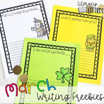 March Writing Pages {Freebie}