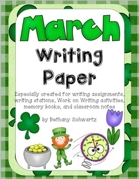 March Writing Paper