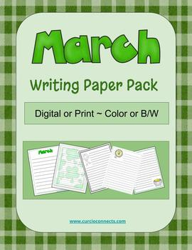 March Writing Paper Pack