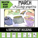 March Writing Papers and Bulletin Board Ready