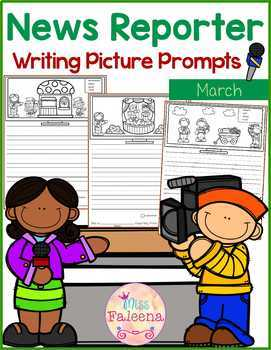 March Writing Picture Prompts - News Reporter