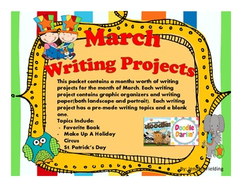 March Writing Projects