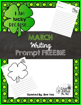 March Writing Prompt *FREEBIE*