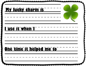 March Writing Prompt Freebie: St. Patrick's Day