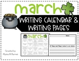 March Writing Prompt and Calendar