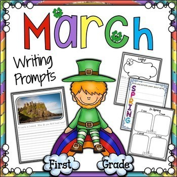 March Writing Prompts | March Writing Center or Journal | Great for Spring