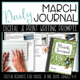 March Writing Journal {Google Classroom & One Drive} Digital Resource