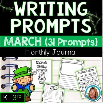 March Writing Prompts Journal K-3