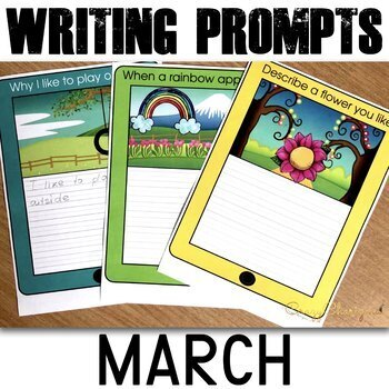 March Writing Prompts K-2