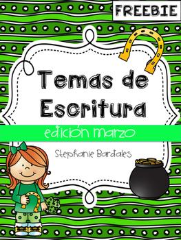 March Writing Prompts Spanish Freebie