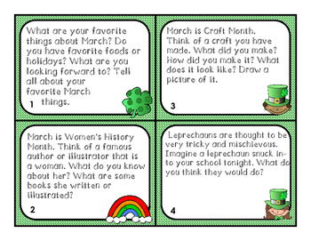 March Writing Prompts and Task Cards