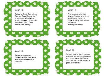 March Writing Prompts- for Intermediate Grades!