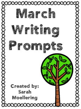March Writing Prompts (includes holidays)