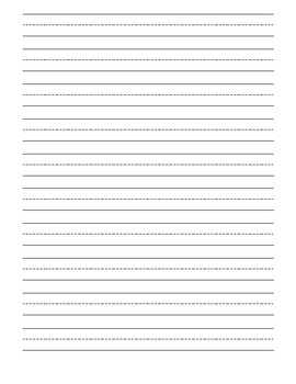 March Writing Template