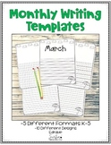 March Writing Templates - Editable