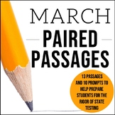 March Themed ELA Paired Passages with Writing Prompts