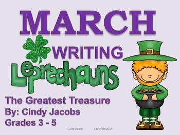 March Writing The Greatest Treasure St. Patrick's Day Writing