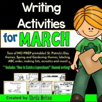 March Writing Center NO PREP Printables