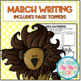 March Writing with Page Toppers...Simple Crafts and Writin