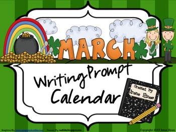 March and Spring Writing Prompt Calendar ~ {Common Core Standards}
