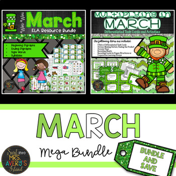 St. Patrick's Day Bundle of ELA and Math Activities