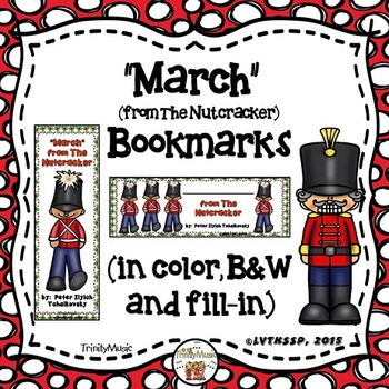 March (from The Nutcracker) Bookmarks