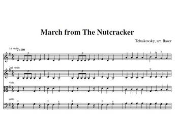 March from The Nutcracker for Strings