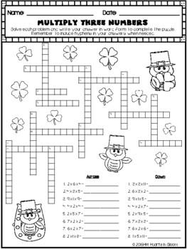 March in Third Grade (NO PREP Math and ELA Packet)