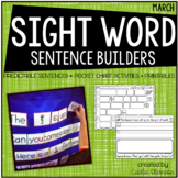 Sentence Building {Sight Word Activities for March}
