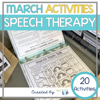 March Monthly Themed Therapy:  March into Speech and Language