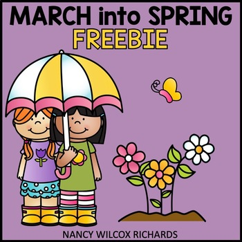 March into Spring: Literacy & Color by Number Freebie, No Teacher Prep