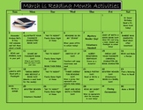"""March is Reading """"FUN"""" Month Calendar"""