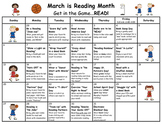 March is Reading Month Calendar of Activities for 2018
