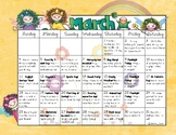 March is Reading Month Calendar of Activities