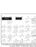 March is Reading Month Calendar of Events