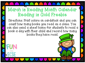 March Reading Month Log Freebie