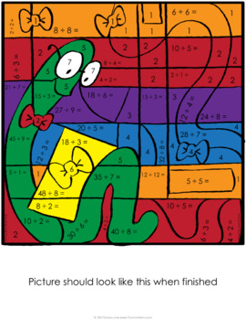 Color by Number Multiplication and Division Reading Theme